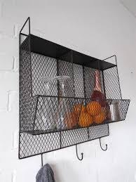 Metal Wire Storage Shelves Metal Kitchen Wall Shelves Captainwalt Com