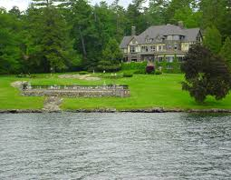 houses luxury living lake george land mansion rich water