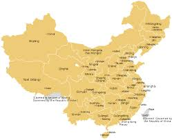 map of china china