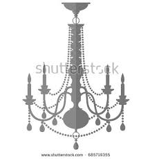 Flat Chandelier Vintage Chandelier Flat Design Vector Illustration Stock Vector