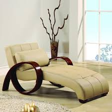 Leather Chaise Lounge Chair Bedroom Furniture Beige Leather Chaise Lounger Modern Tufted