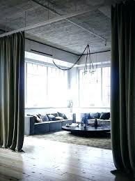 Loft Curtains Loft Living Room By Interior Design Contemporary