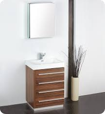 Modern Bathrooms Vanities 23 5 U201d Fresca Livello Fvn8024gw Walnut Modern Bathroom Vanity W