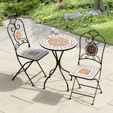 tile top patio table and chairs cast iron high top patio table set sorrentos bistro home