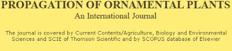 propagation of ornamental plants journal homepage