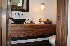 zebra wood bathroom cabinets zebra wood floating vanity bathrooms by roth wood products