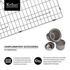 Kraus Laminate Flooring Reviews Kraus Khu100 30 Stainless Steel 30