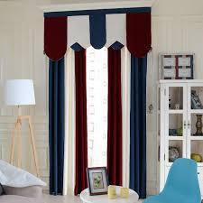 Multi Color Curtains Stitching Room Darkening Chenille Multi Color Living Room Curtain