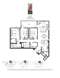 1 Bedroom Condo Floor Plans by Aria 3 Bedroom U2013 Plan P