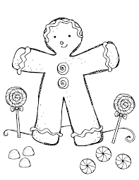 gingerbread coloring pages simple with gingerbread coloring pages