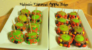 melissa u0027s caramel apple bites and halloween party tips josie cooks