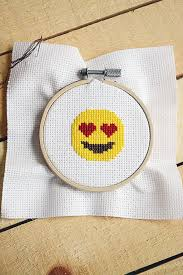 free valentine u0027s day emoji cross stitch pattern storypiece
