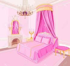 Pink Bedroom Interior Clipart Pink Bedroom Pencil And In Color Interior