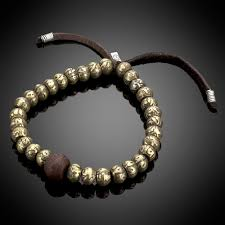 prayer beaded bracelet images Tibetan prayer bead bronze bead silver leather bracelet jpg