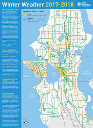 Good West Seattle Bike Routes by Winter Weather Response Transportation Seattle Gov