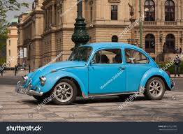 blue volkswagen prague czech republic april 21 2017 stock photo 625921988