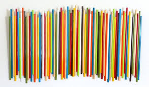 painted wood artwork painted wood stick sculpture wood wall original