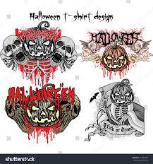 halloween tshirt design sets stock vector 717884089 shutterstock