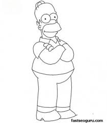 printable homer simpson coloring printable coloring pages