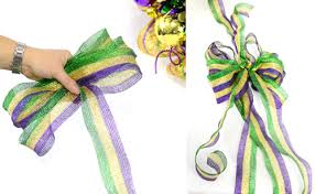 mardi gras ribbon party ideas by mardi gras outlet a mardi gras wreath with