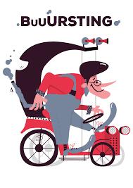 tricycle cartoon luigi leuce illustrator u0026 graphic designer works