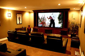 Simple Elegant And Affordable Home Cinema Room Ideas - Living room with home theater design