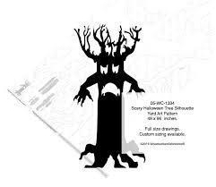 05 wc 1334 scary halloween tree silhouette yard art woodworking
