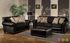 Living Room With Black Leather Furniture by 20 Best Collection Of Black Leather Sofas And Loveseat Sets Sofa