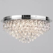 Lights For Low Ceilings Flush Ceiling Light 6 Light Chrome Ceiling Lights
