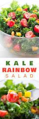 Easy Salad Recipe by Kale Rainbow Salad Brooklyn Farm