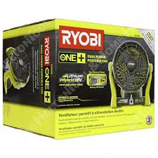 ryobi fan and battery ryobi p3320 18v portable hybrid fan