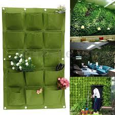 herb wall 15 pocket wall hanging garden planter bag indoor outdoor vertical