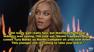 Naomi Meme - tyra banks is still very scared of naomi cbell even after they