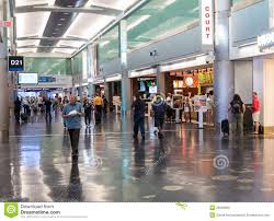 Miami International Airport Terminal Map by Terminal D At Miami International Airport Editorial Stock Photo