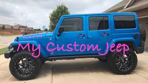 starwood motors jeep blue custom hydro blue jeep wrangler youtube