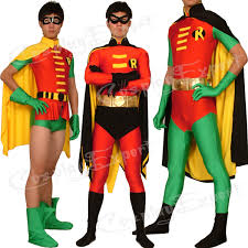 Spandex Halloween Costumes Free Shipping Dhl Wholesale 3 Style Robin Red Lycra Spandex