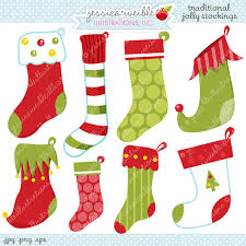 cute stockings traditional jolly stockings cute digital clipart commercial