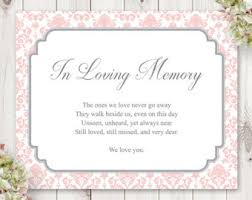 in memory of wedding program watercolor wedding sign template lovely leaves