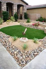 Desert Backyard Landscaping by Arizona Desert Home Combines Waterscaping Xeriscaping And