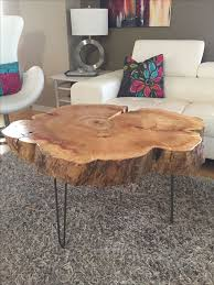 Diy Wooden Coffee Table Designs by Best 25 Tree Trunk Table Ideas On Pinterest Tree Trunk Coffee