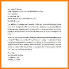 7 college financial aid appeal letter sample joblettered