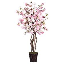 artificial cherry blossom plant 6 5ft pink vickerman target