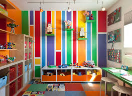 decorations fun colorful kids bedroom painting decor with track
