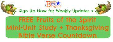 fruits of the spirit mini unit study thanksgiving countdown