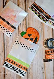 washi tape halloween treat bags about a mom