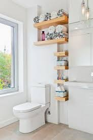 smallm towel storage ideas gray stained wooden above toilet stand