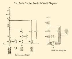 delta starter power circuit diagram