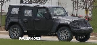 jeep hurricane spyshots 2018 jeep wrangler next gen out testing