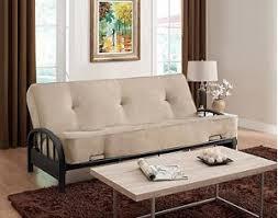 sofa bed mattress size amazon com futon sofa bed frame and 8