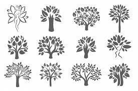 tree logo illustration icon set by alic design bundles